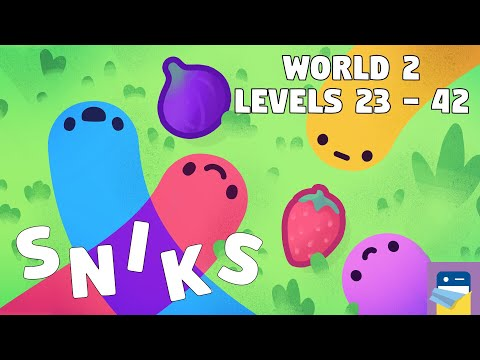 SNIKS: World 2 Levels 23 - 42 Walkthrough Guide & iOS / Android Gameplay  (by Shelly Alon)