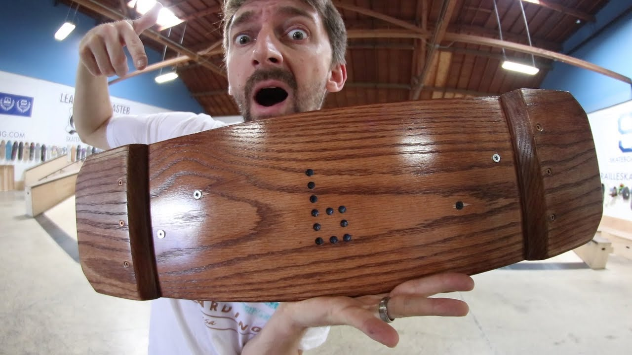 CAN WE BREAK THE SOLID OAK BOARD?!?! | YOU MAKE IT WE SKATE IT EP. 218