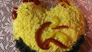 """#Салат """"Золотой петушок"""" / Salad """"the Golden Cockerel"""""""