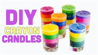 DIY:CRAFTS How to make candles \rainbow candles using crayons