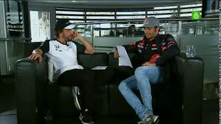 Fernando Alonso and Carlos Sainz Jr se entrevistan el uno al otro
