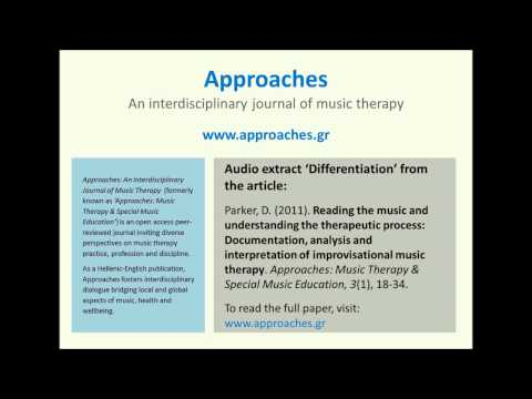 Approaches: An Interdisciplinary Journal of Music Therapy (Parker, 2011) - Differentiation