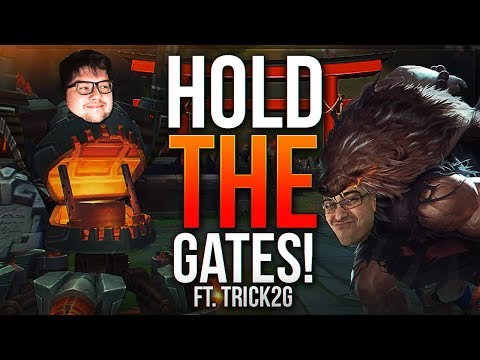 DYRUS AND TRICK HOLDING THE GATES VS TYLER1