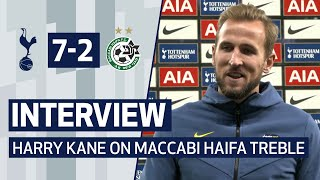 INTERVIEW | HARRY KANE ON MACCABI HAIFA HAT-TRICK | Spurs 7-2 Maccabi Haifa