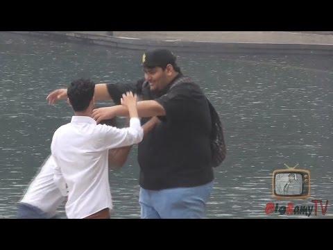 Hugging Arabs prank- GONE WRONG