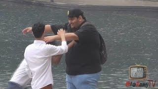 Hugging Arabs prank- GONE WRONG