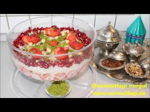 Kaymaklı GÜLLAC nasil yapilir tarifi - Ramazan tatlisi ...