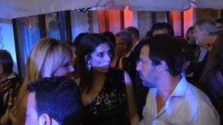 Matteo Salvini insieme a Elisa Isoardi in una festa a Venezia