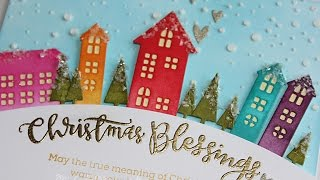 "Simon Says Stamp Cold Hands, Warm Hearts | ""Christmas Blessings"" Card"