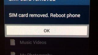 sim card removed problem samsung S4 - error message