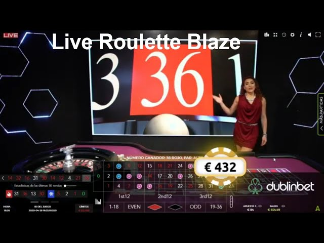 European Roulette, looking to bet correctly  in blaze live roulette 100€ a 368€ 💵