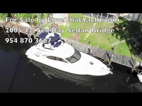 For Sale 2005 42' Sea Ray Sedan bridge Your Concierge Yacht Broker,  www lovethatyacht com