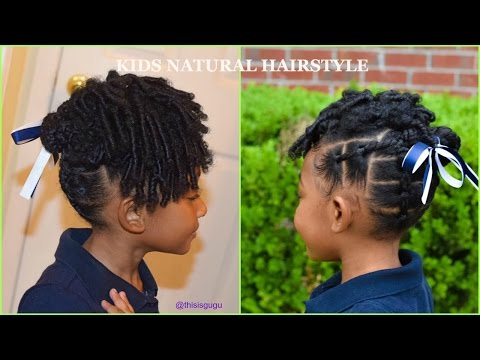 KIDS NATURAL HAIRSTYLES:  Easy Little Girls Rubberband Braids(Beginner Friendly) BACK TO SCHOOL