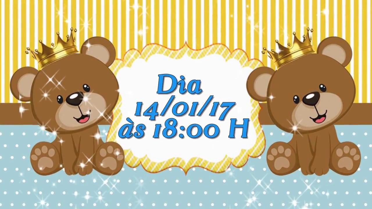 Convite Animado Urso Príncipe Youtube