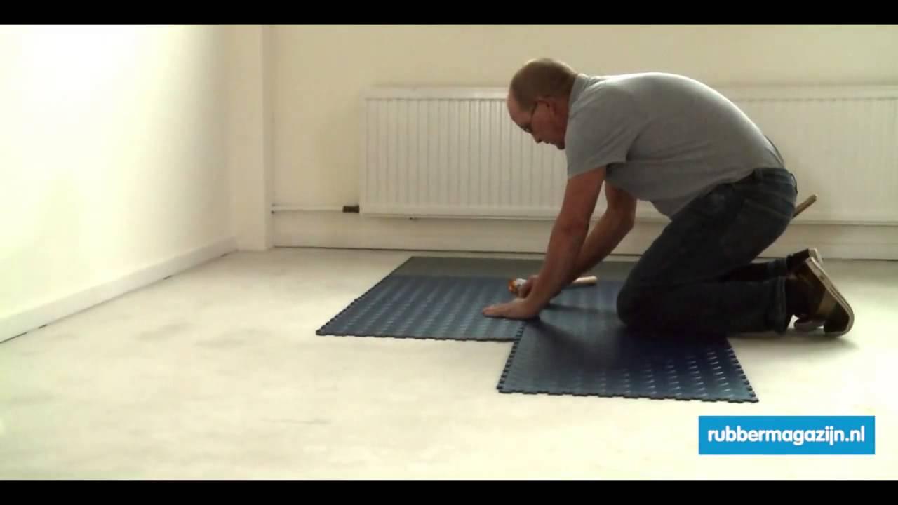 Pvc vloer leggen rubbermagazijn youtube