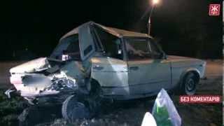 Ночью на въезде в Житомир собака, перебегавшая дорогу, угробила две машины