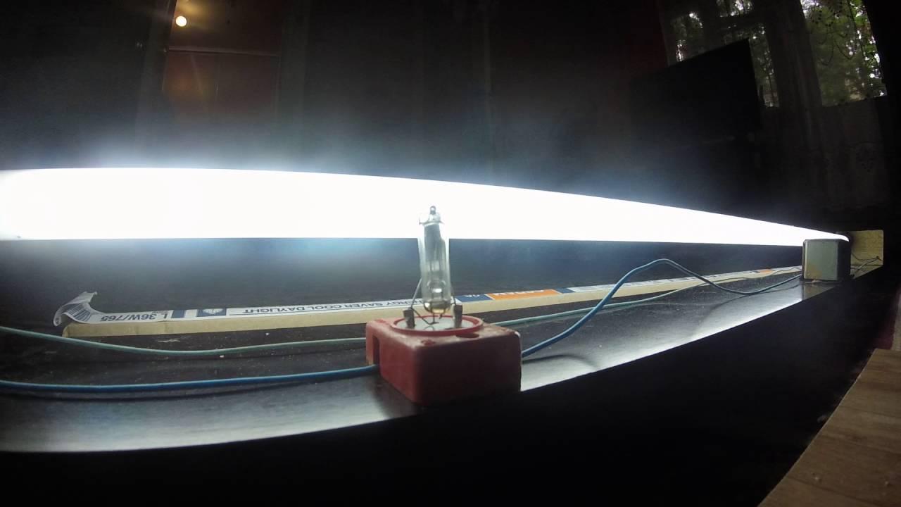 Запуск ЛЮБОЙ горелой энергосберегающей лампы - YouTube