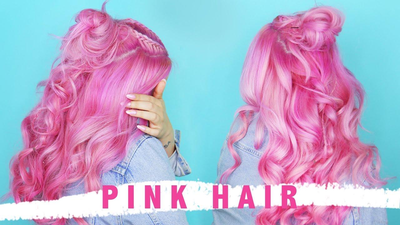 Pink Hair Bellami Tape In Extensions 60 By Tashaleelyn Youtube