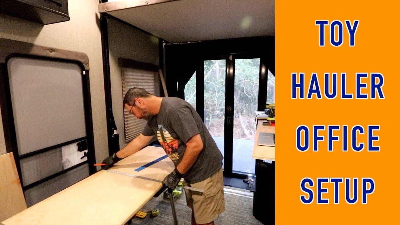 Toy Hauler Garage Office Mod for Full Time RV | Changing Lanes!