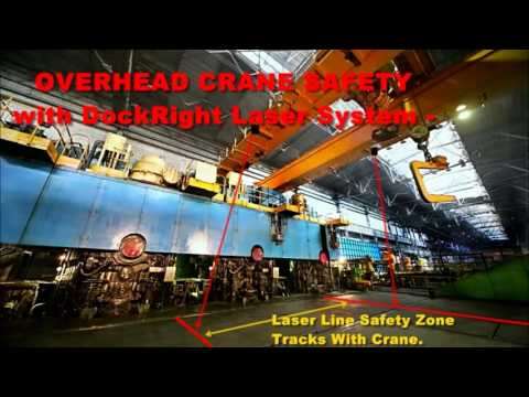 DockRight Laser Virtual Line  Featuring Overhead Crane and Tipping Floor Use