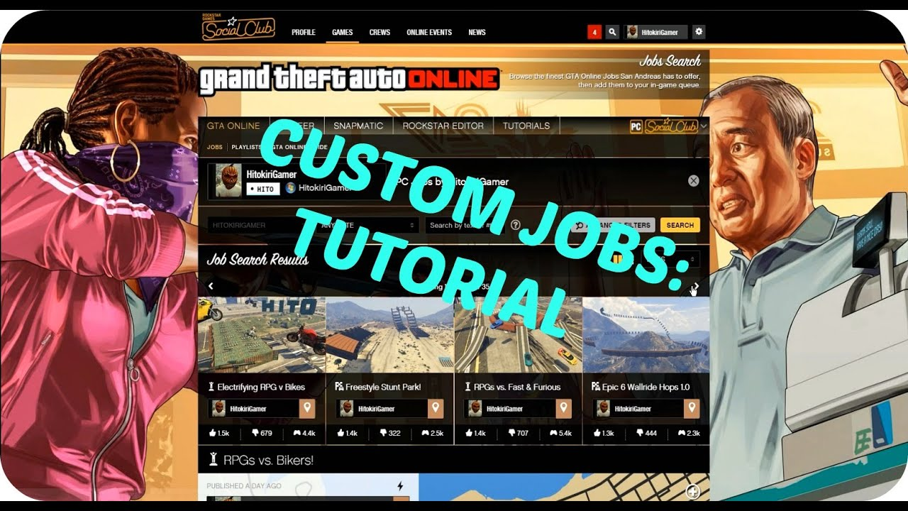 GTA 5: How To Add And Start Custom Jobs In GTA Online - Tutorial