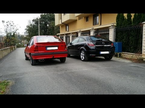 Kadett GT Vs Astra GTC - 0-120 Km/h Drag!