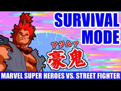 サバイバルモード - マーヴル・スーパーヒーローズ VS. ストリートファイター