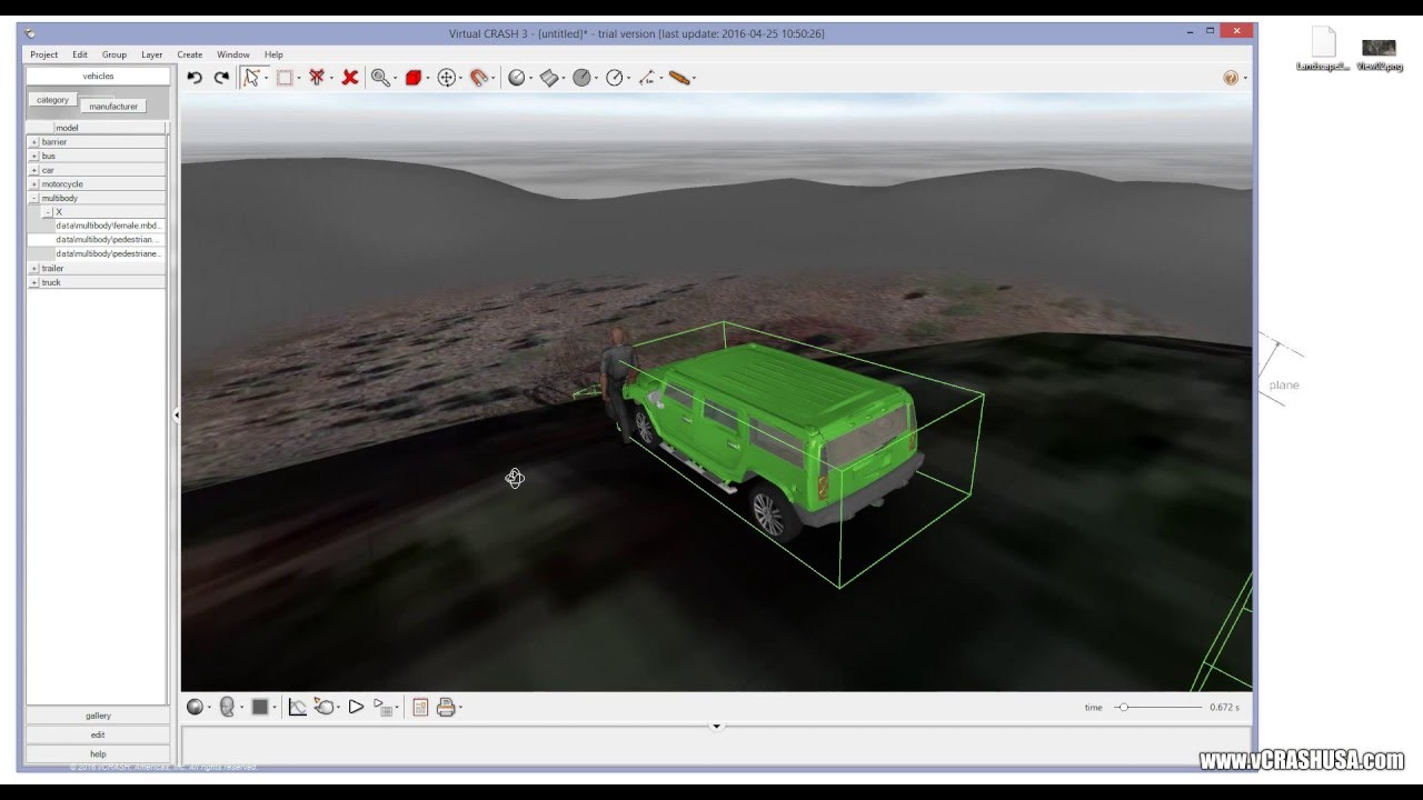 Free Vehicle Dynamics and Terrain Simulator | Virtual CRASH | Free ...