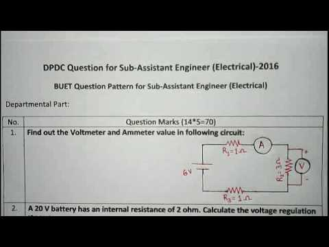 Sub Assistant Engineer job preparation 1st part( BUET Question pattern)