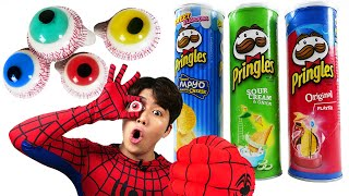 Pringles eyeballs jelly 프링글스 눈알젤리 똔대 먹방 DD Mukbang