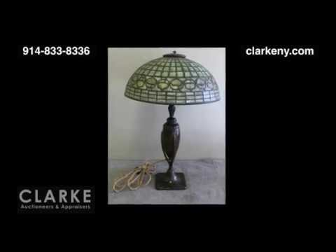 Antique Tiffany Lamp | Signed Tiffany Studios Acorn Lamp  | On A Harvard Bronze Base