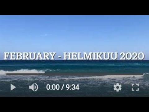 Muistoja, helmikuulta 2020, Memories from February 2020