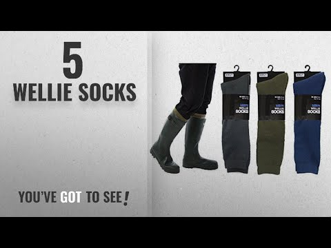 Top 10 Wellie Socks [2018]: Mens Fleece Wellie Socks Wellington Boot Liners Welly Warmers Warm Dry