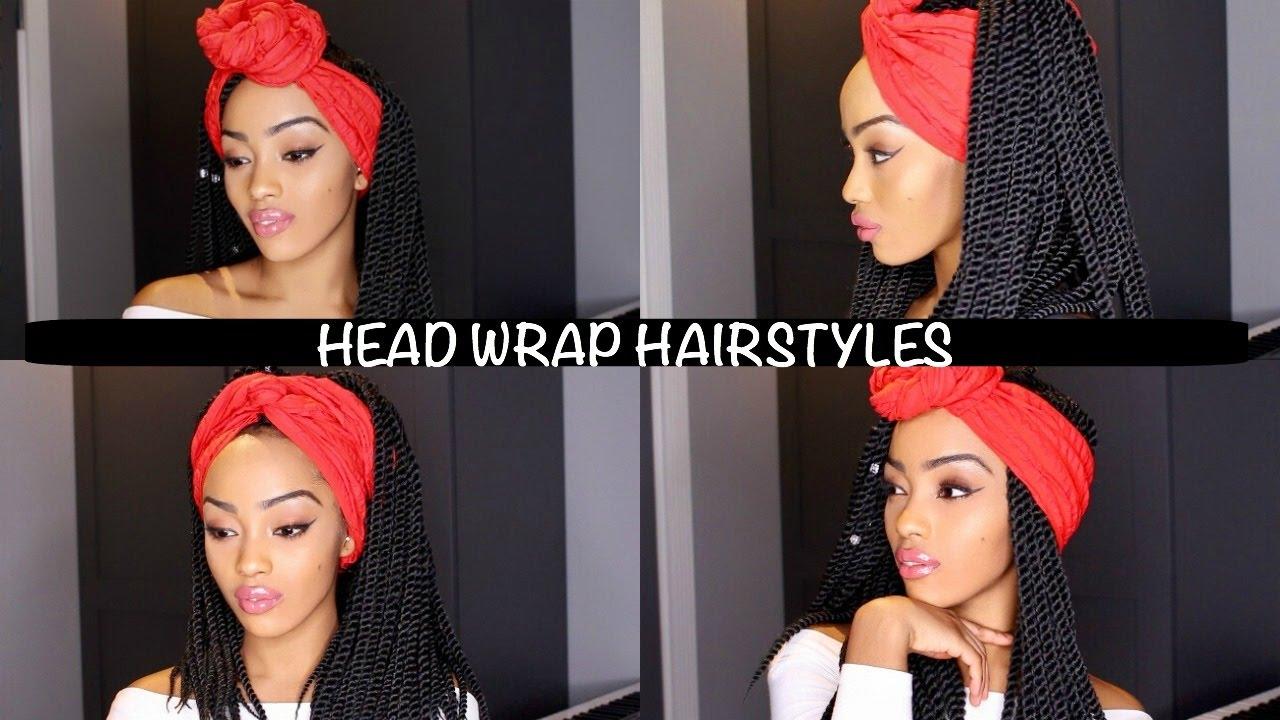 Easy Head Wrap Individual Crochet Braids Hairstyles