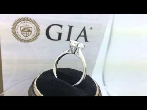 14k White Gold Diamond Engagement Ring w/ 1.50ct GIA SI-1 G Diamond