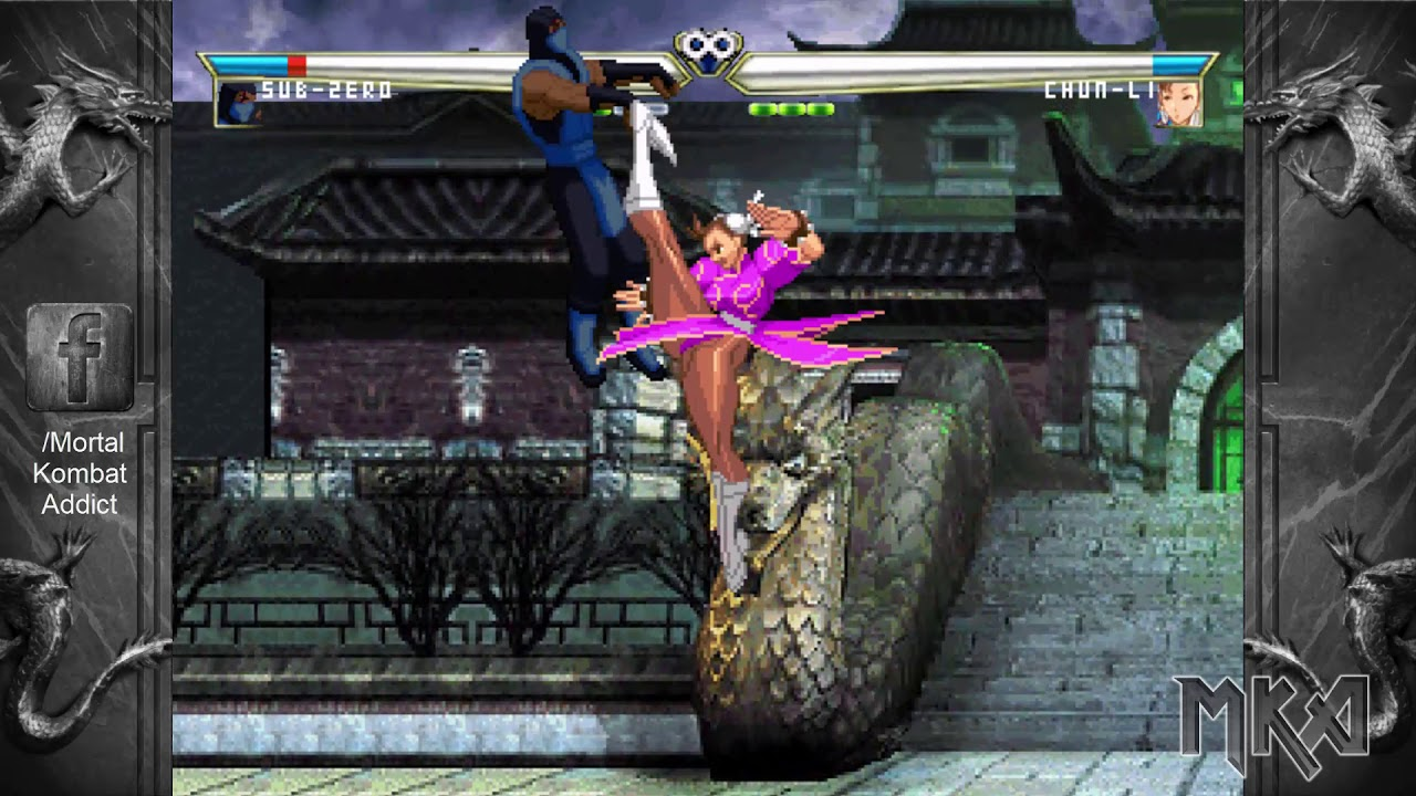 Mortal Kombat Vs Street Fighter 2014 By Deathcold With Download