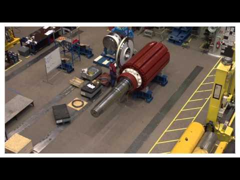 ABB Azipod® propulsion unit assembly Timelapse