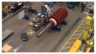 ABB Azipod® propulsion unit assembly Timelapse