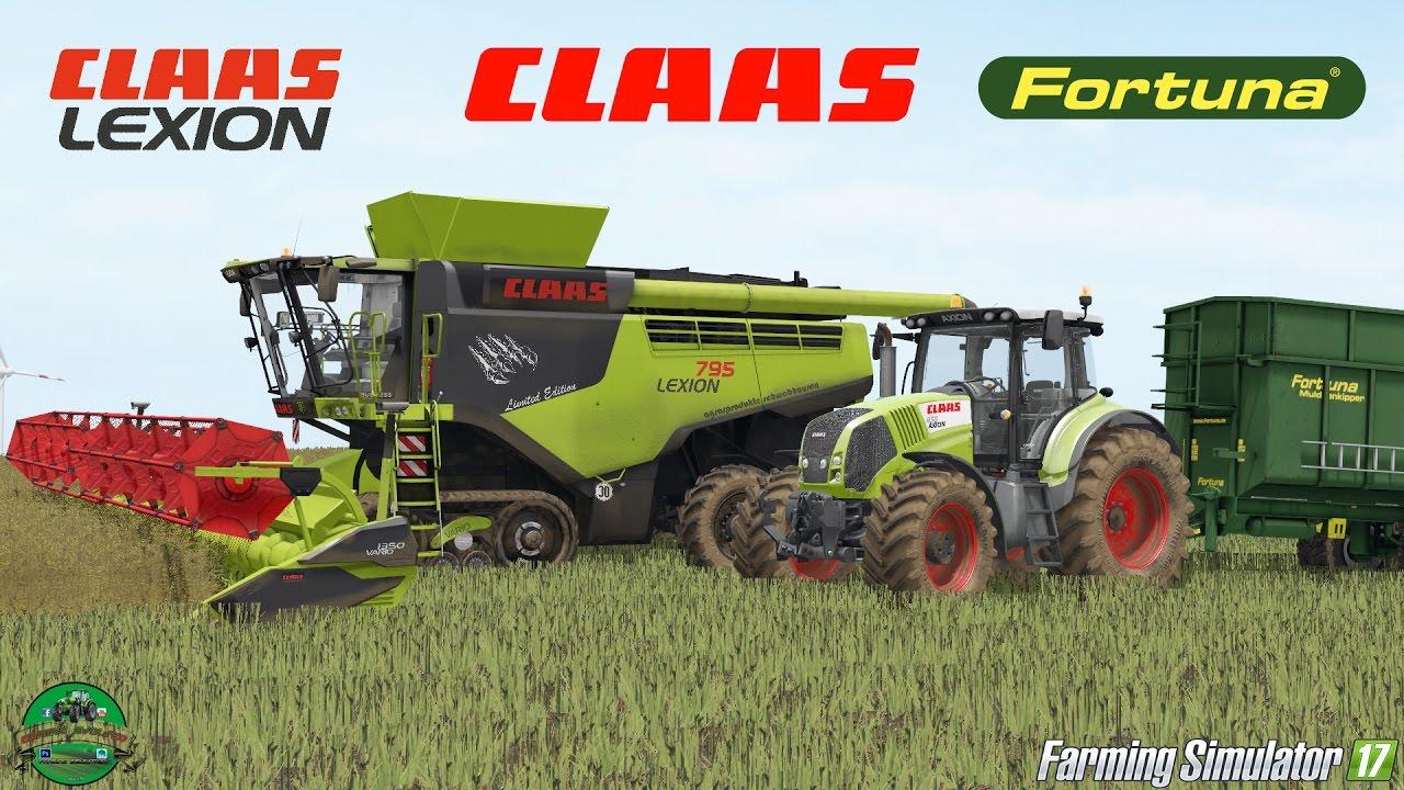 farming simulator 17 claas lexion 795 vario 1350 axion 850 fortuna ftm 200 6 0 youtube. Black Bedroom Furniture Sets. Home Design Ideas