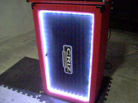 Diy Homemade 2x12 Guitar Cabinet With Led Amp 3u Flight Case