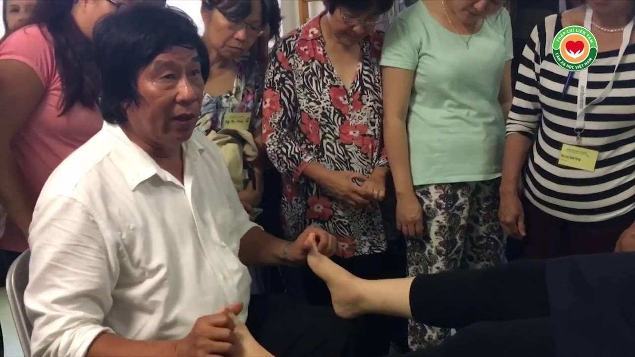 Đau lưng lâu năm, thầy Dư Quang Châu hướng dẫn, Y mao mạch Thập Chỉ Liên Tâm, Frankfurt, 2016