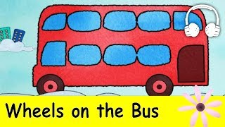 Repeat youtube video Wheels on the Bus | Family Sing Along - Muffin Songs