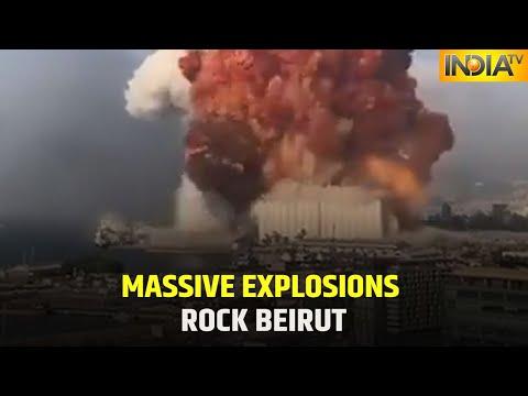 Huge Explosions In Lebanon's Capital Beirut, 73 Killed   IndiaTV News