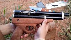 Air Pistol  PCP .22/ 5.5 homemade - Pistola PCP fabricação caseira .22/5.5