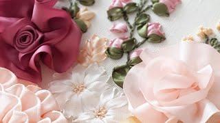 KURDELE NAKIŞI PANO BÖLÜM 2     Kurdeleden güller ve çiçekler   Silk Ribbon Embroidery