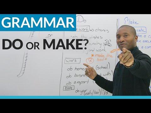 Learn English: MAKE or DO?