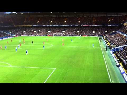 Chelsea vs Liverpool 0 - 2 - The Fields of Anfield Road Song