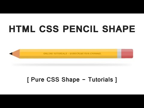 Html Css Pencil Shape - Pure Css Shape - Tutorial For Beginners - CSS Pencil Design