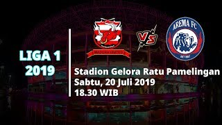 Jadwal Pertandingan dan Siaran Langsung Liga 1 2019 Madura United Vs Arema FC Sabtu (20/7)