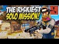 The RISKIEST Solo Mission! - Rust Solo Survival Gameplay
